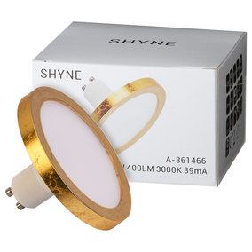SHYNE | LED GU10 Panelleuchtmittel 90mm dimmbar in Gold