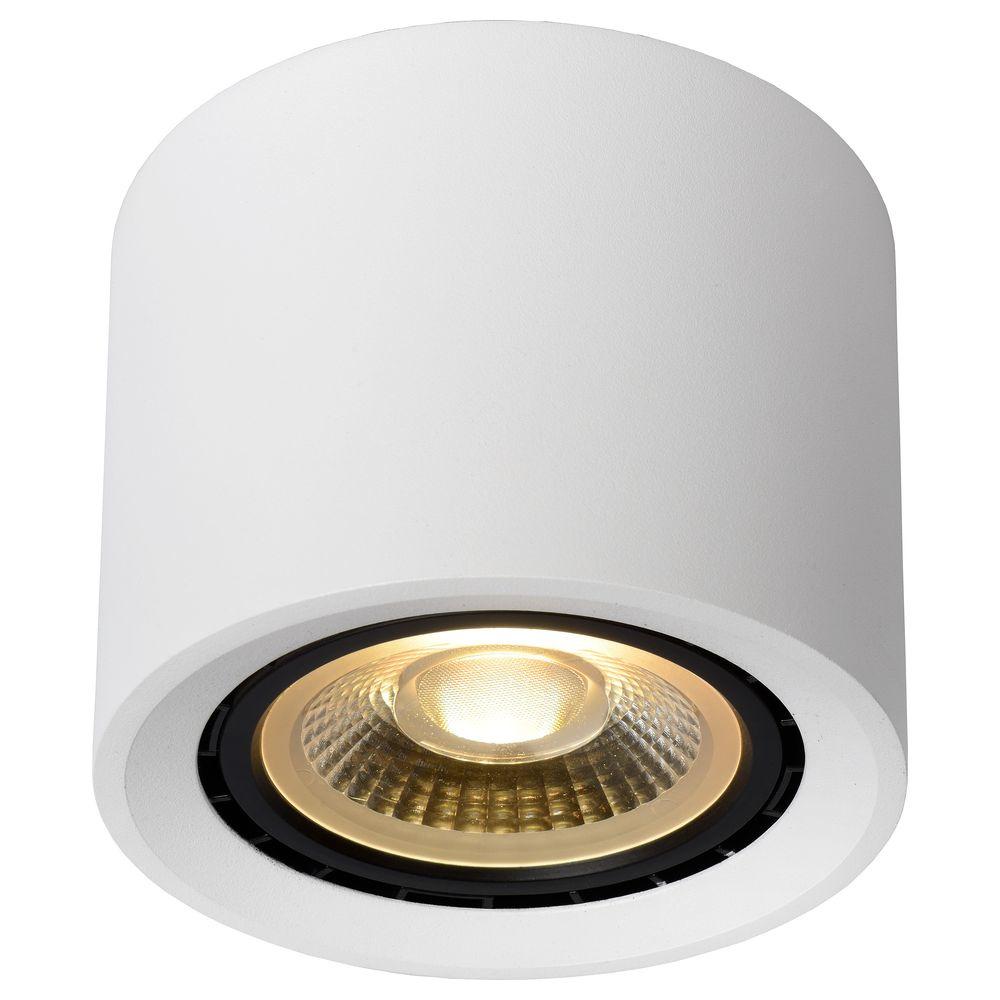 LED Deckenstrahler Fedler in Weiß GU10 12W 820lm rund   Lucide   09921/12/31   click licht.de