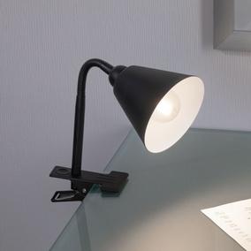 Klemmleuchte LED weiss Zeitlos Warmweiß Flexarm Netzstecker