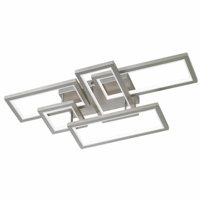 LED Deckenleuchte Viso dimmbar in Nickel 170x530x990 mm