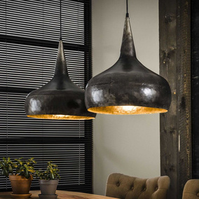 famlights | Pendelleuchte Nico aus Metall in Silber...