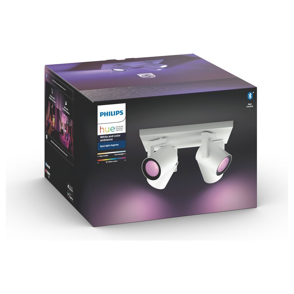 Philips Hue Bluetooth White & Color Ambiance Argenta - Spot Weiß 4-flammig