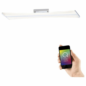 Q-Smart LED Deckenleuchte Q-Riller in Chrom RGBW inkl....