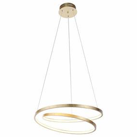 LED Pendelleuchte Roman aus Metall in Gold, 550 mm
