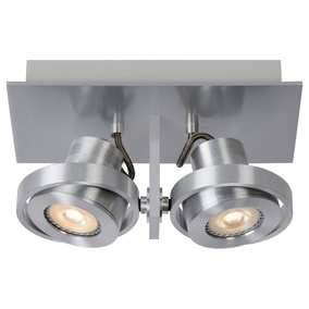 LED Deckenspott Landa 2x5W GU10 in Aluminium 2-flammig