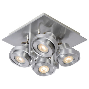 LED Deckenspott Landa 4x5W GU10 in Aluminium 4-flammig