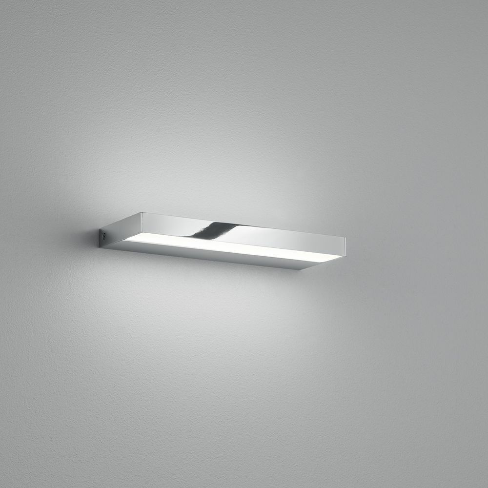 LED Wandleuchte Slate in Chrom und Transparent-satiniert 6W 270lm IP44 300mm
