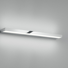LED Wandleuchte Slate in Chrom und Transparent-satiniert...
