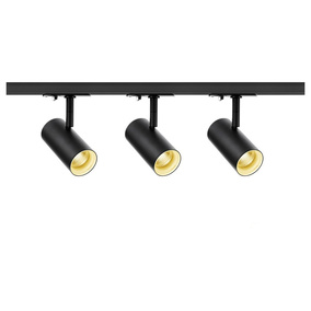 LED 1-Phasenschienen Set inkl. 3xSpott Noblo in Schwarz