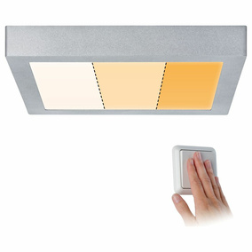 LED Deckenleuchte Carpo in Chrom-matt 16W 1400lm eckig