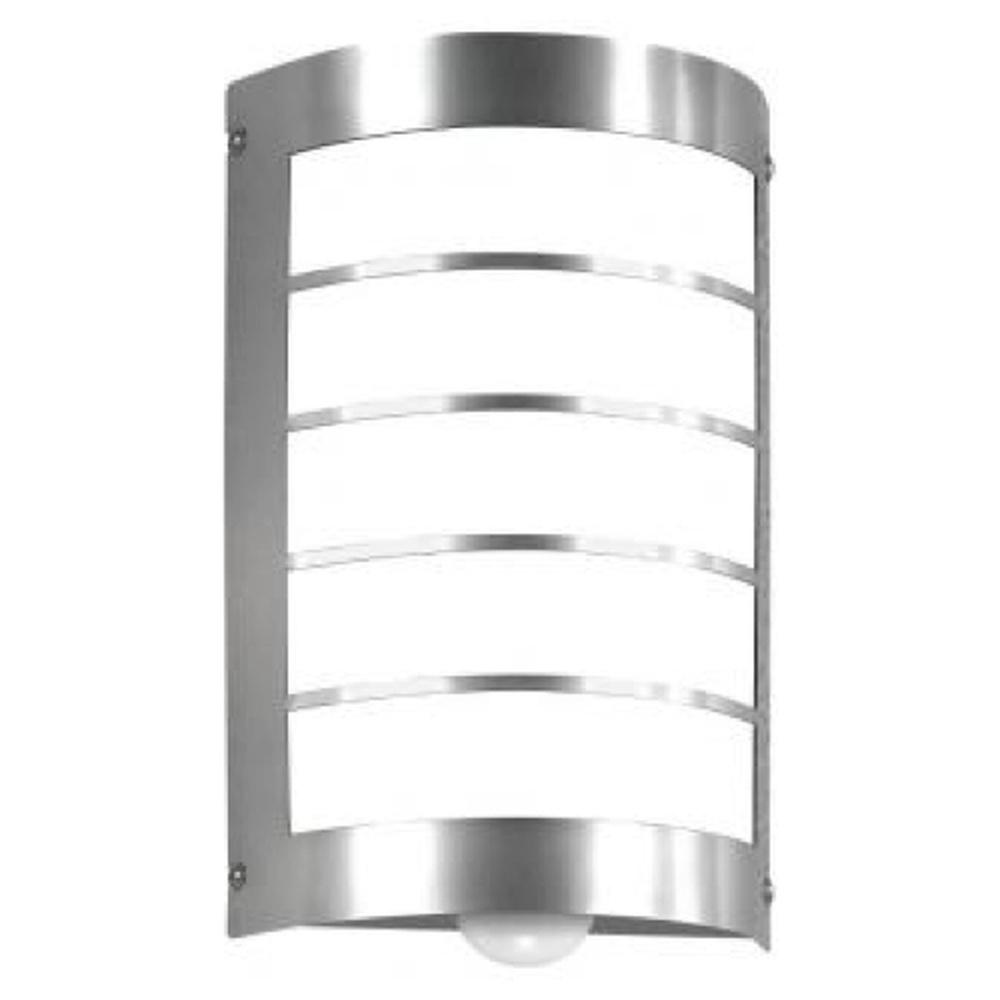 LED Lampe Stehleuchte Melder Sensor Aussenleuchte Edelstahl Steckdose IP44