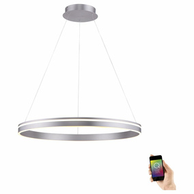 Q-Smart LED Pendelleuchte Q-Vito in Silber tunable white...