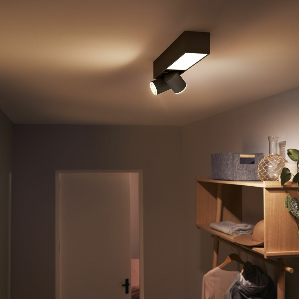 Philips Hue Bluetooth White & Color Ambiance Spot Centris in Schwarz 2 flammig