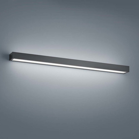 LED Wandleuchte Theia in Schwarz-matt 24W 1410lm 900mm