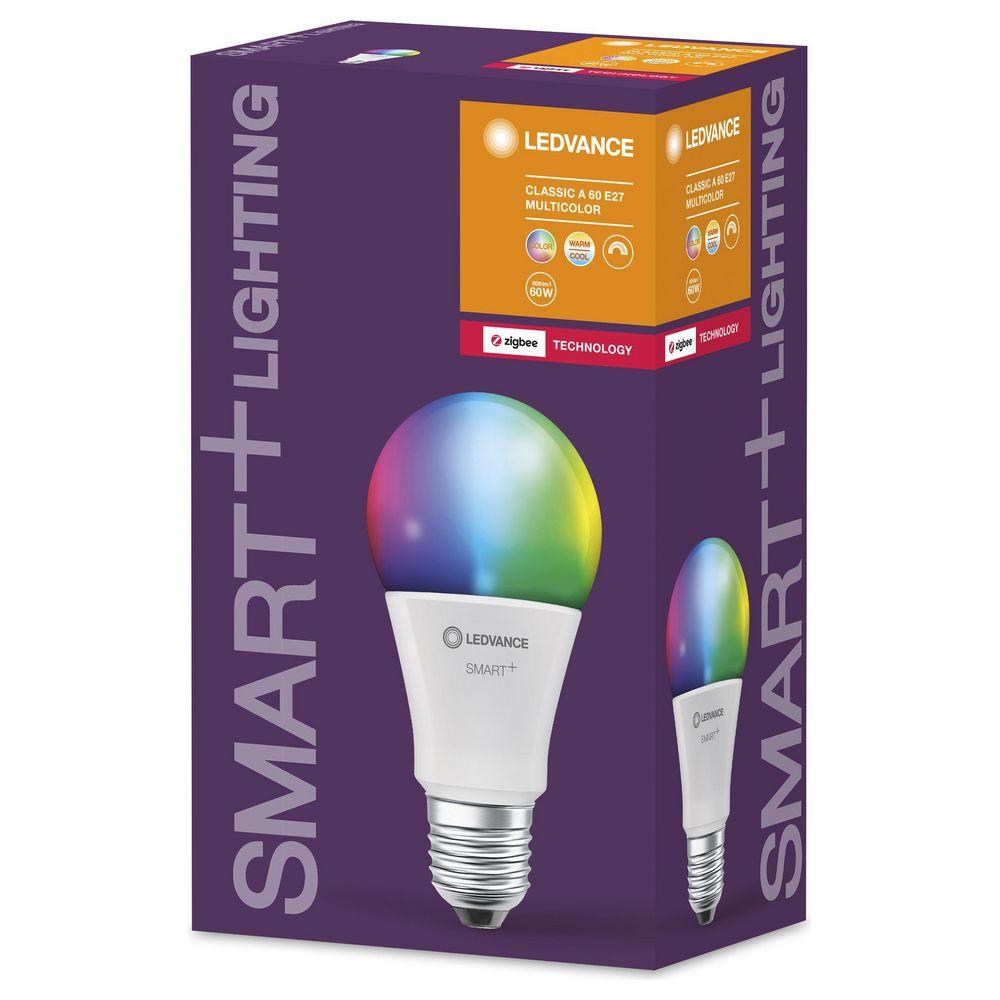 LED Zigbee Leuchtmittel Birne 9W = 60W E27 matt 806lm warmweiß DIMMBAR 4x Smart
