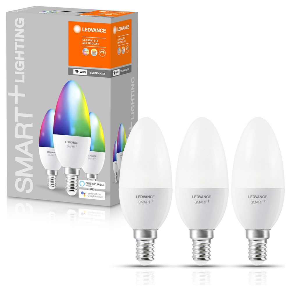 SMART+ LED Leuchtmittel E14 B38 5W 470lm RGBW 3er Set