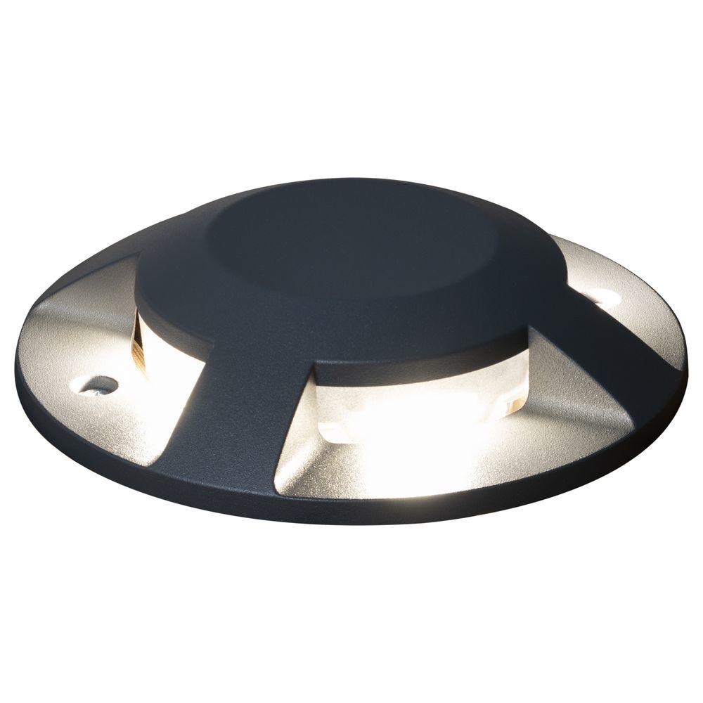 LED Terrassen  und Bodenaufbaustrahler in Anthrazit IP20