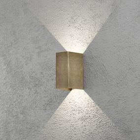 Konstsmide LED Außenleuchte Wandleuchte CREMONA IP54 Alu Anthrazit 7992-370