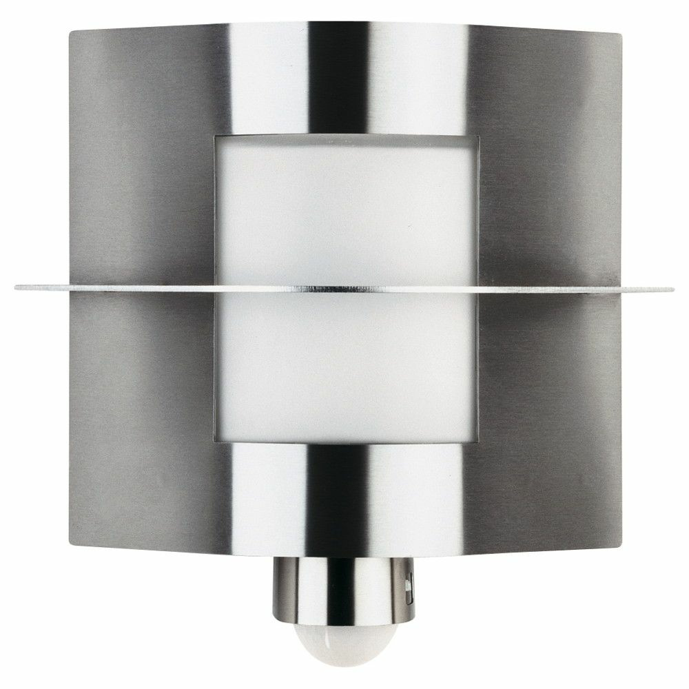 eckige wandleuchte a 92994 mit bewegungsmelder edelstahl opalglas ip44 m albert 696101. Black Bedroom Furniture Sets. Home Design Ideas