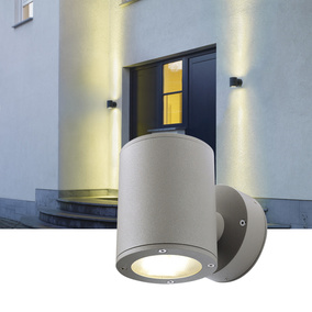 Up- and Downlight LED Wandleuchte Sitra, anthrazit, GX53