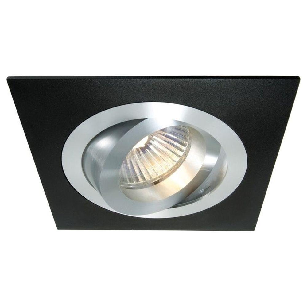 schwenkbarer einbauring  aluminium schwarz deko light