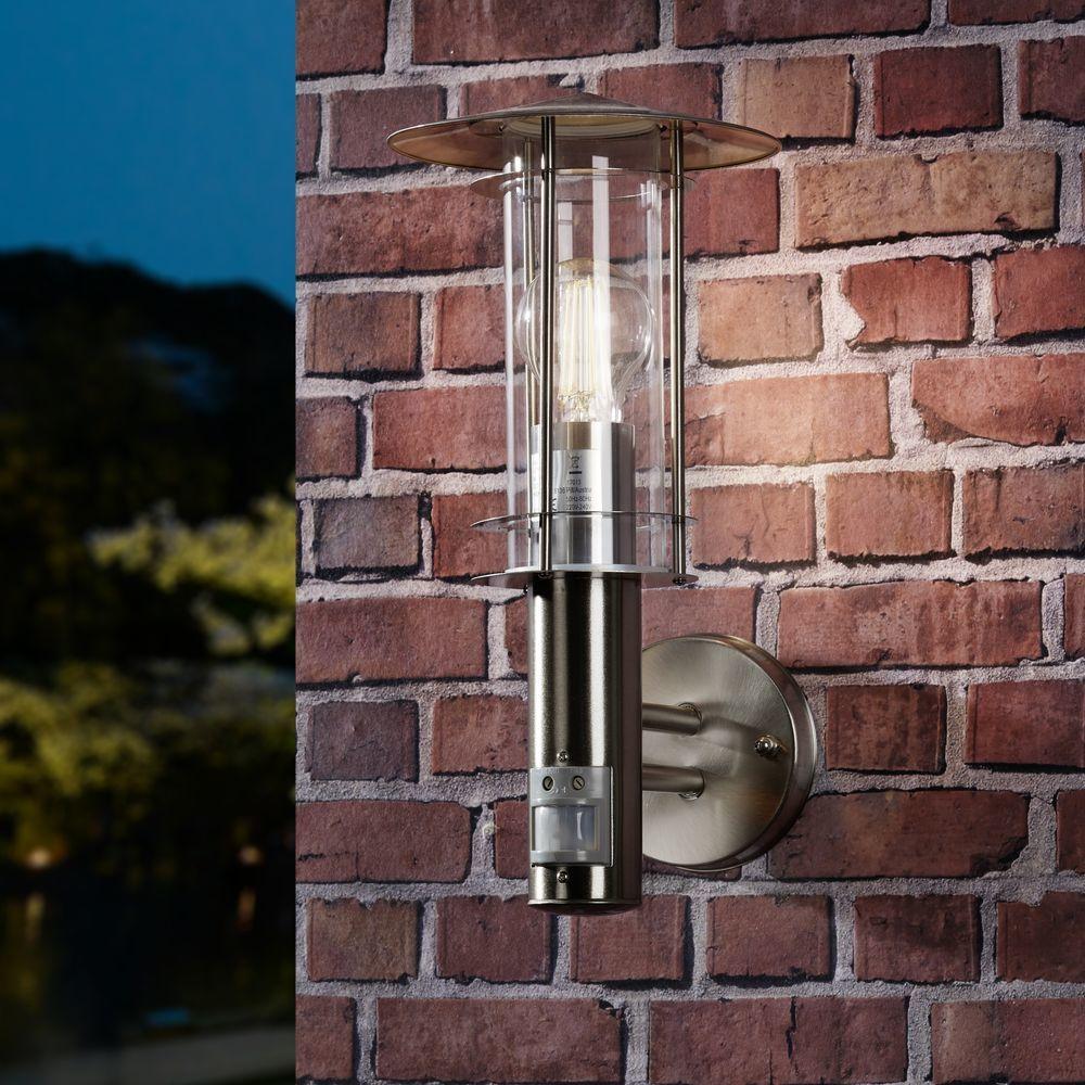 Gastronomie- & Nahrungsmittelgewerbe LED Spot Leuchte mit Bewegungsmelder Außen Lampe Garage Weg Haus Einbruch-Schutz