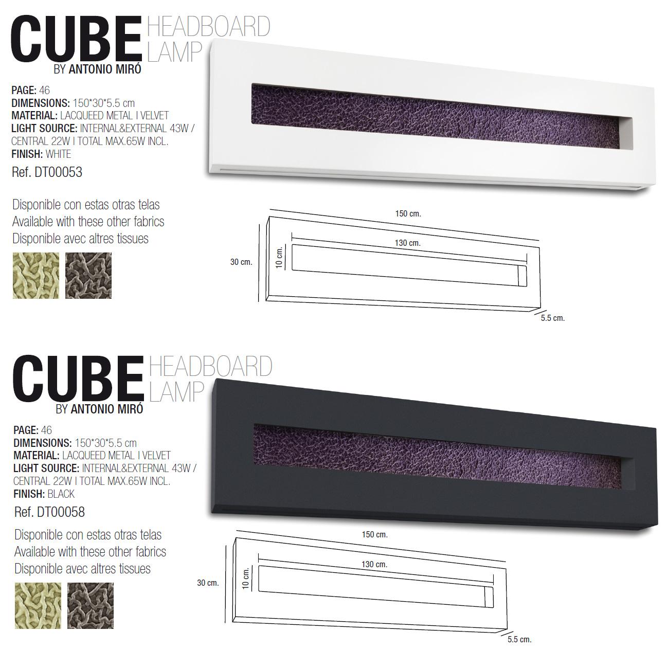 dekoratives cube headboard in schwarz dresslight dt00058 click. Black Bedroom Furniture Sets. Home Design Ideas